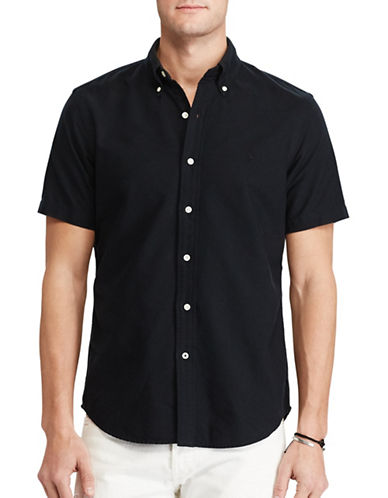 Polo Ralph Lauren Standard-Fit Cotton Shirt-BLACK-Large