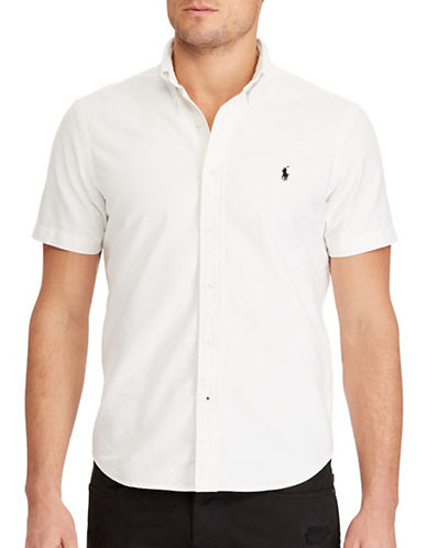 Polo Ralph Lauren Standard Fit Cotton Shirt-WHITE-X-Large