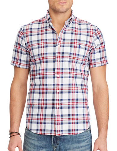 Polo Ralph Lauren Standard-Fit Plaid Cotton Shirt-WHITE-X-Large