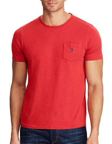 Polo Ralph Lauren Classic Cotton Tee-RED-5X Big