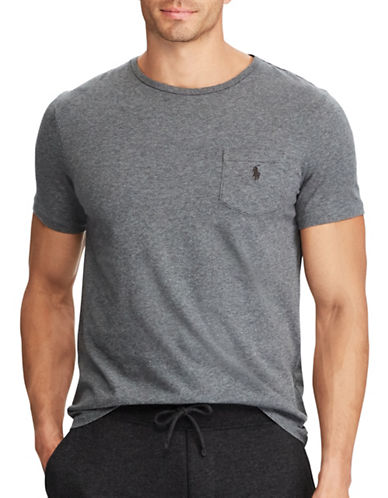 Polo Ralph Lauren Classic Cotton Tee-GREY-4X Big