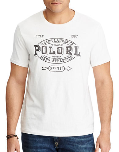 Polo Ralph Lauren Cotton Jersey Graphic Tee-WHITE-1X Tall
