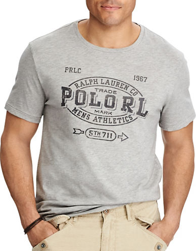 Polo Ralph Lauren Cotton Jersey Graphic Tee-GREY-4X Big