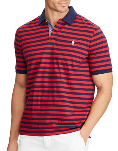 Polo Ralph Lauren Classic-Fit Striped Cotton Polo-BLUE-2X Tall