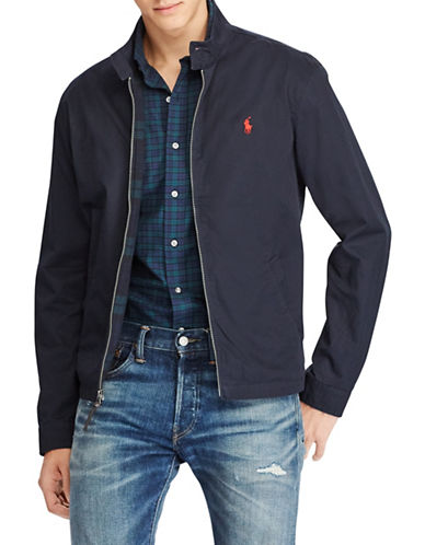Polo Ralph Lauren Cotton Twill Jacket-BLUE-Small