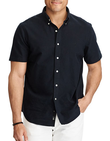 Polo Ralph Lauren Big and Tall Classic Fit Cotton Shirt-BLACK-Large Tall 89233532_BLACK_Large Tall