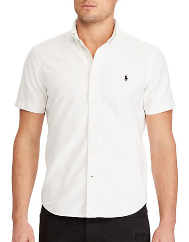 Polo Ralph Lauren Big and Tall Classic-Fit Cotton Shirt-WHITE-Large Tall