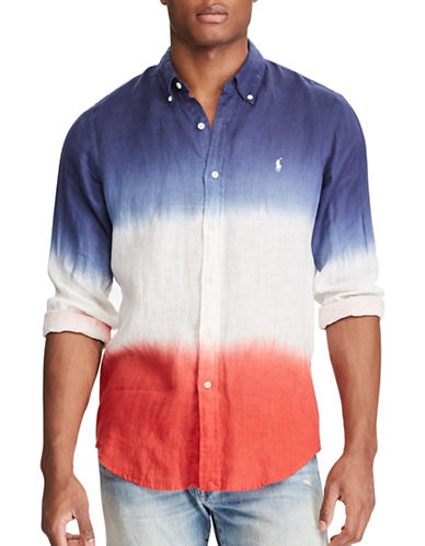 Polo Ralph Lauren Big and Tall Classic-Fit Linen Shirt-WHITE-1X Big