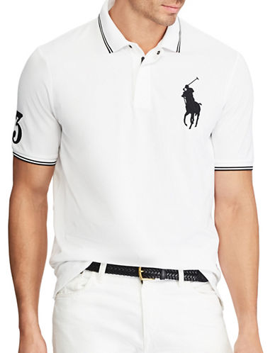 Polo Ralph Lauren Big and Tall Classic-Fit Stretch Polo Shirt-WHITE-4X Tall