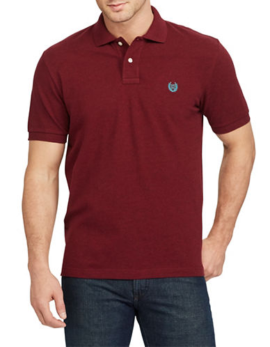 Chaps Stretch Mesh Polo-RED-Large