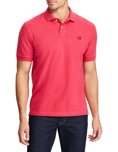 Chaps Stretch Mesh Polo-PINK-Large