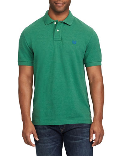 Chaps Stretch Mesh Polo-GREEN-Small