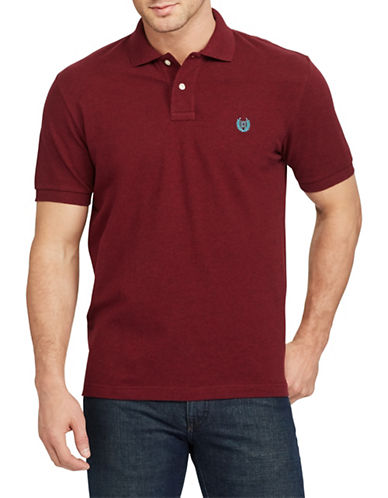 Chaps Stretch Mesh Logo Polo-RED-4X Big