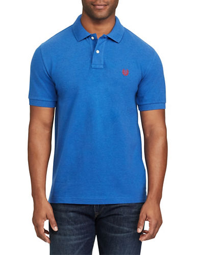 Chaps Stretch Mesh Logo Polo-BLUE-1X Tall