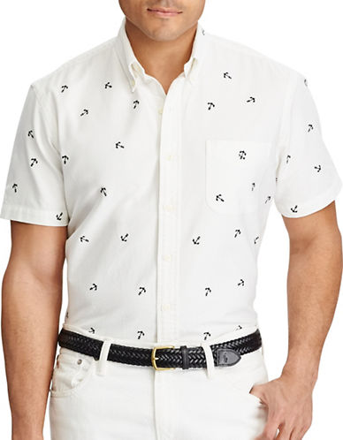 Polo Ralph Lauren Big and Tall Classic-Fit Cotton Shirt-WHITE-1X Tall