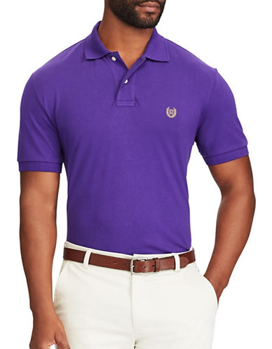 Chaps Big and Tall Stretch Mesh Polo-PURPLE-1X Tall