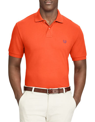 Chaps Big and Tall Stretch Mesh Polo-ORANGE-2X Big