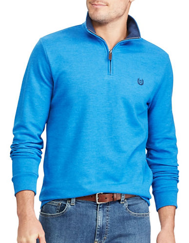 Chaps Mock Neck Pullover Sweater-LIGHT BLUE-X-Large