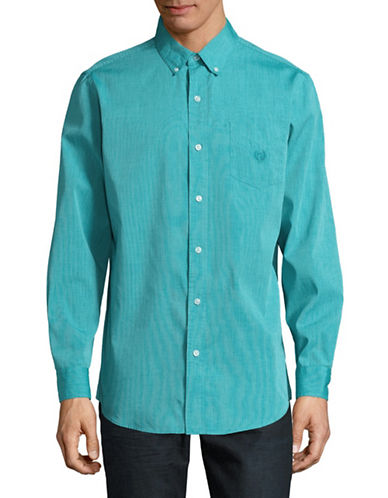 Chaps Easy-Care Shirt-GREEN-Large