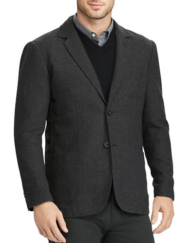 Chaps Herringbone Sports Coat-BLACK-Large