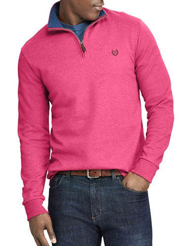 Chaps Mock Neck Pullover Sweater-RED-Medium