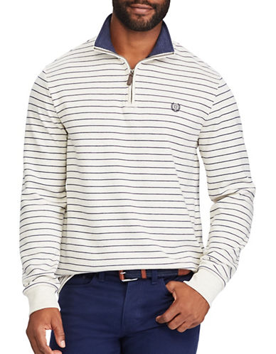 Chaps Striped Pullover Sweater-NATURAL-X-Large