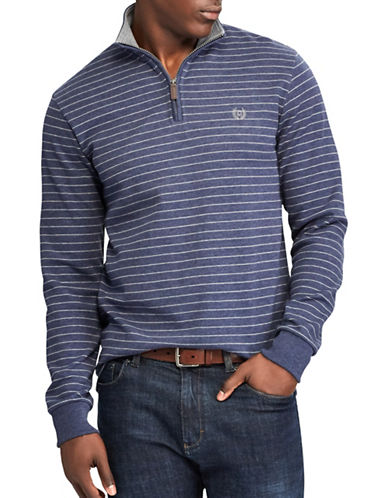 Chaps Striped Pullover Sweater-NAVY-Small
