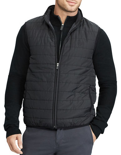 Chaps Packable Quilted Vest-BLACK-X-Large