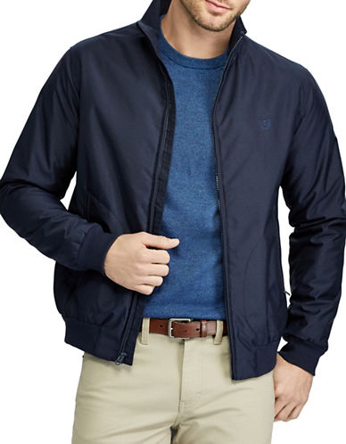 Chaps Full Zip Bomber-NAVY-X-Large