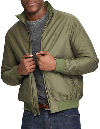 Chaps Full Zip Bomber-GREEN-Medium