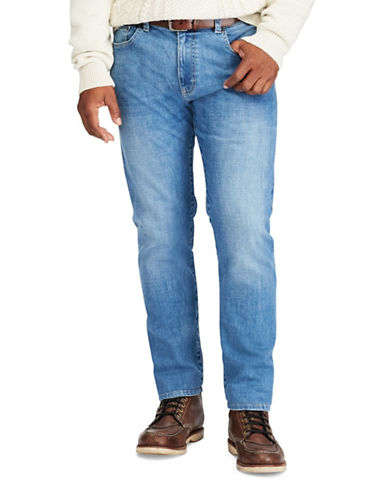 Chaps Straight Fit Stretch Jeans-BLUE-38X32