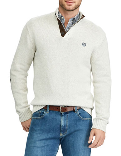 Chaps Mockneck Sweater-NATURAL-X-Large