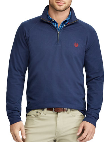 Chaps Big and Tall Stretch Pullover Sweater-NAVY-Large Tall