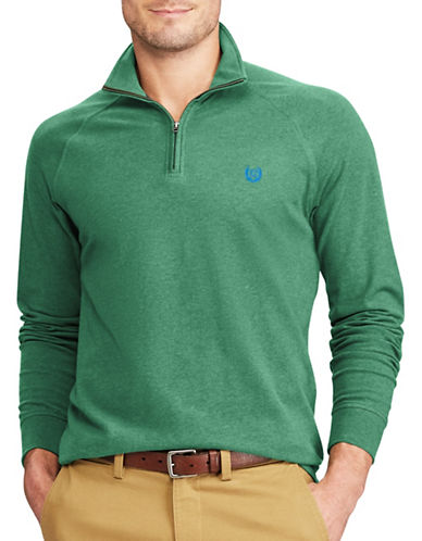 Chaps Big and Tall Stretch Pullover Sweater-GREEN-2X Big