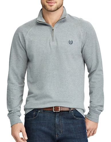 Chaps Big and Tall Stretch Pullover Sweater-GREY-1X Tall