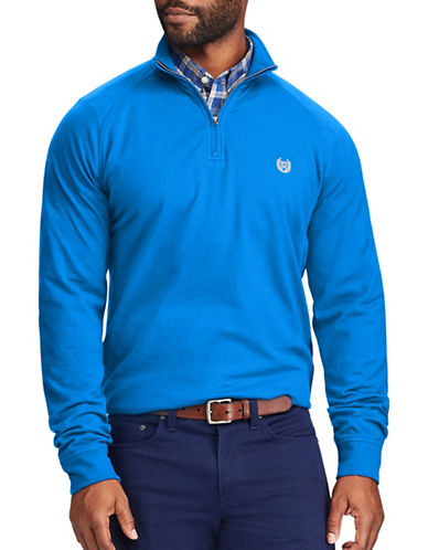 Chaps Big and Tall Stretch Pullover Sweater-BLUE-3X Big