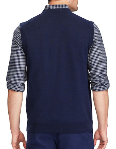 Chaps Cotton Sweater Vest-NAVY-3X Tall