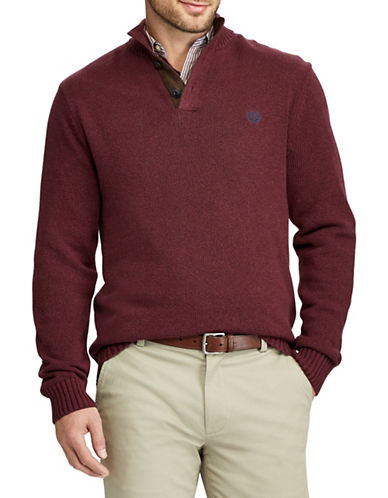 Chaps Mockneck Sweater-RED-4X Big
