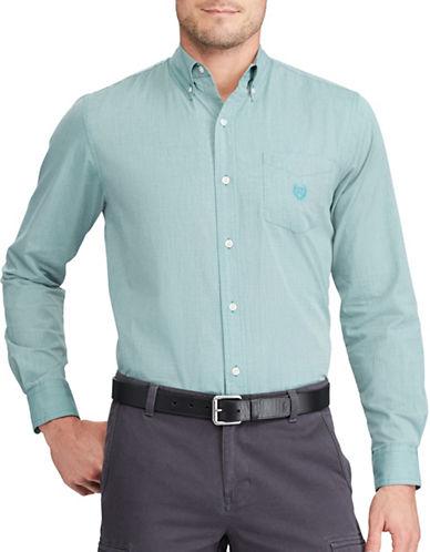 Chaps Minimalistic Sport Shirt-GREEN-3X Tall