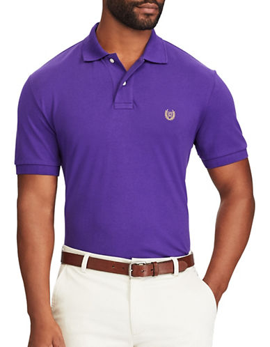 Chaps Stretch Mesh Polo-PURPLE-Large