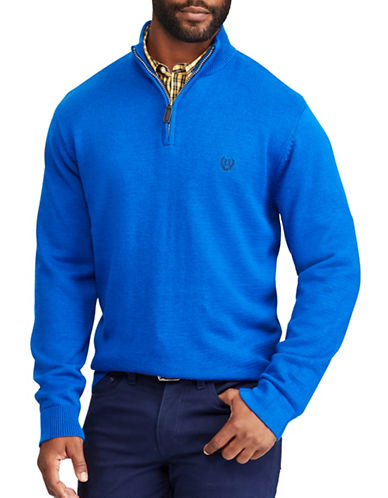 Chaps Jersey Pullover Sweater-BLUE-Small