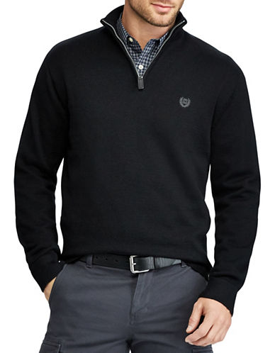 Chaps Jersey Pullover Sweater-BLACK-X-Large