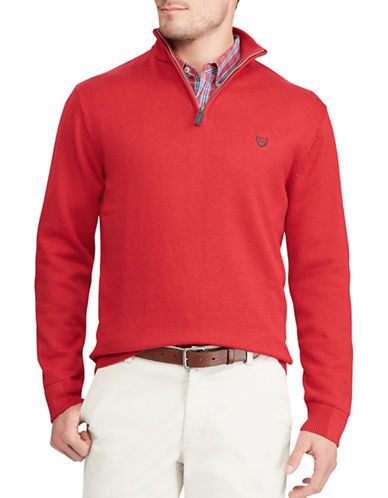 Chaps Jersey Pullover Sweater-RED-Small