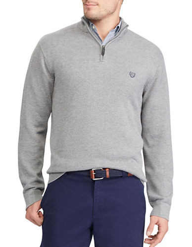 Chaps Jersey Pullover Sweater-GREY-X-Large