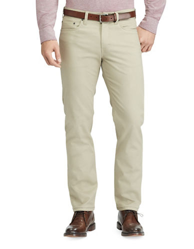 Chaps Stretch Five-Pocket Twill Pants-BEIGE-32X32