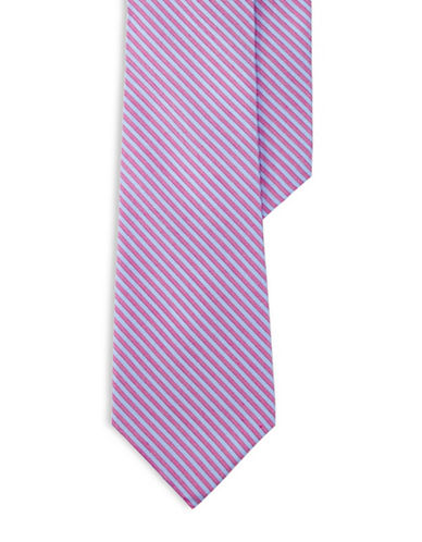 Lauren Ralph Lauren Striped Silk-Blend Tie-PINK-One Size