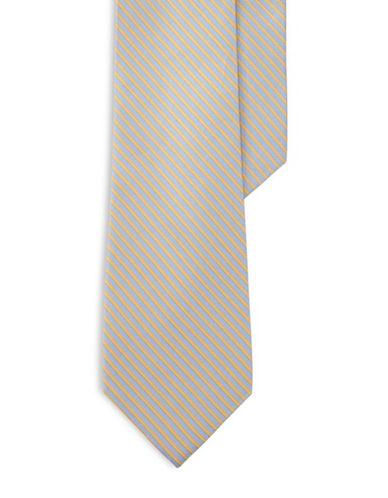 Lauren Ralph Lauren Striped Silk-Blend Tie-YELLOW-One Size