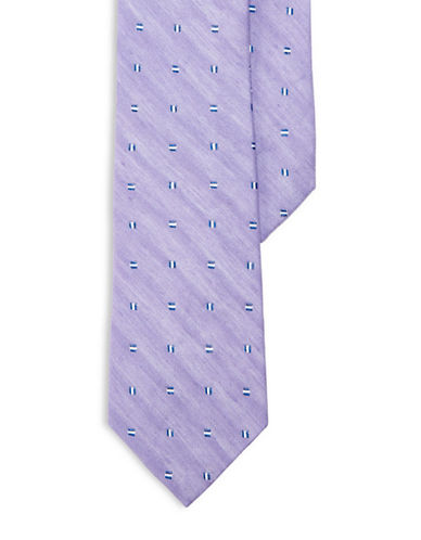 Lauren Ralph Lauren Linen-Silk Neats Tie-PURPLE-One Size