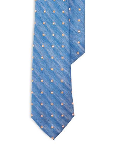 Lauren Ralph Lauren Linen-Silk Neats Tie-NAVY-One Size