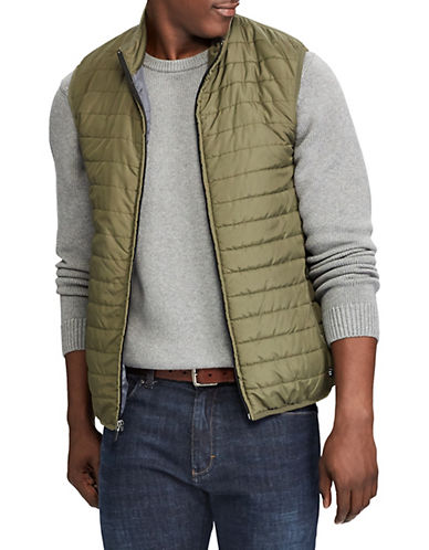 Chaps Packable Quilted Vest-GREEN-Medium